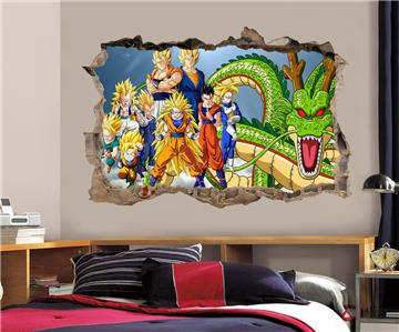 Dragon ball z wall decal removable wall sticker mural goku for Decoration murale dragon ball