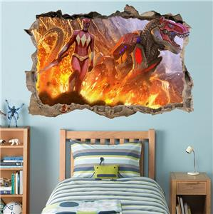 ... Power Rangers Dino Charge Smashed Wall Decal Graphic Wall Sticker ... Part 53