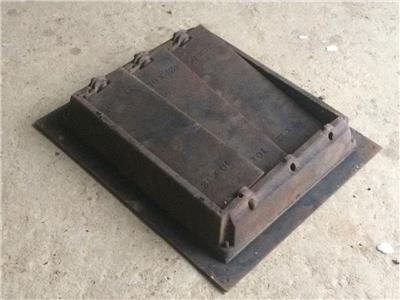 Cast iron floor grate register vent with louvers 14 x12 for 10x12 floor register