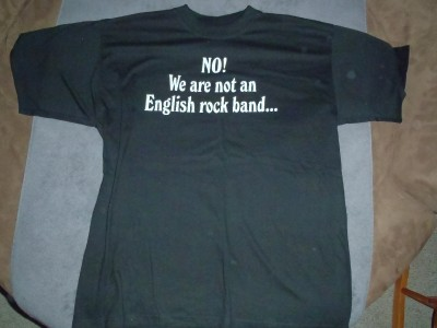 Iron Maiden No We Are Not An English Rock Band shirt