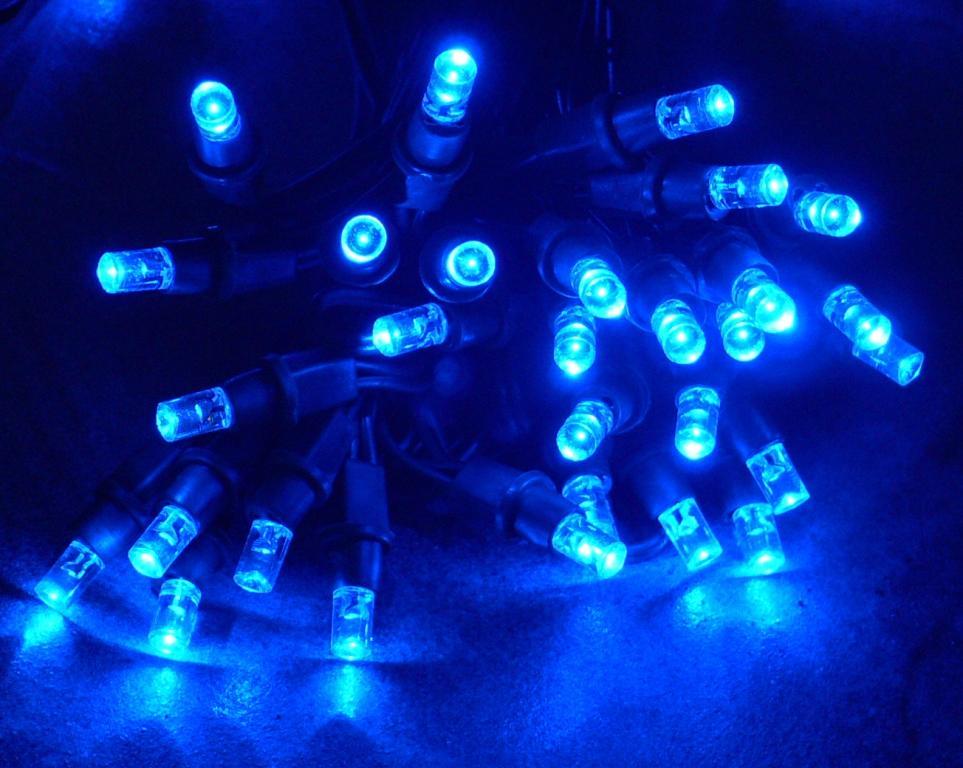 Four New Solar String Light Blue 60 LED Sunshine Fairy Xmas eBay