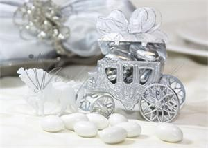 12 Cinderella Gold Silver Clear Carriage Wedding Favor plastic 3