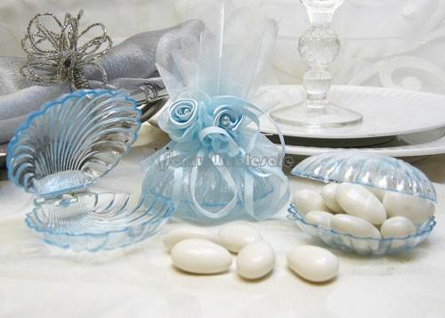 12 Acrylic Plastic Shells Baby Shower Wedding Favor