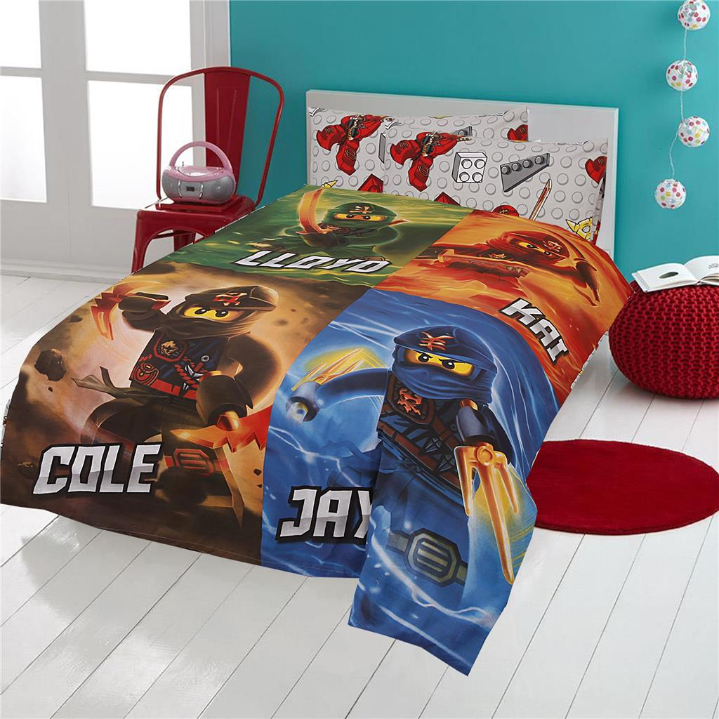 Boys Single Size Lego Ninjago Kids Cotton Quilt Doona
