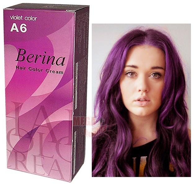 Berina Purple Permanent Hair Dye Color Cream Violet