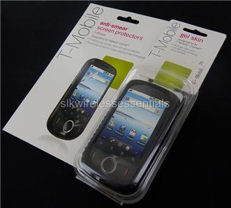 New OEM T mobile Comet Black Premium Hard Gel Case+S/P
