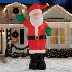 12 39 giant santa claus lighted christmas airblown for 4 ft santa claus decoration