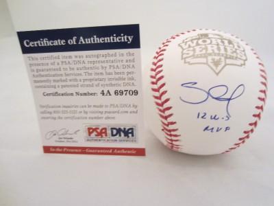 Pablo Sandoval Signed World Series 12 WS MVP Baseball Giants PSA DNA
