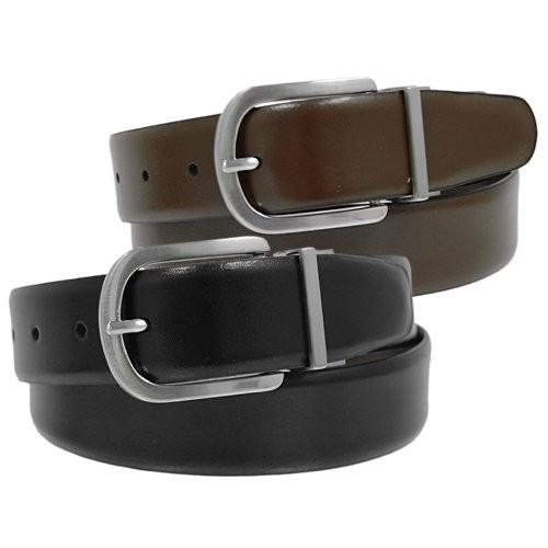 Joseph-Abboud-Men-039-s-Reversible-Brown-Black-Leather-Belt