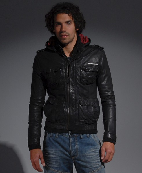 New-Mens-Superdry-Club-65-Leather-Jacket-AL-MP79-6550