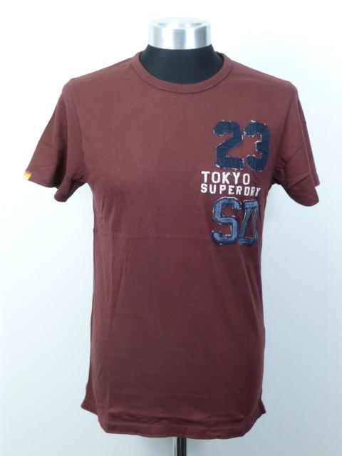 Neues-Herren-Superdry-23-Tokyo-Applique-T-Shirt-Groesse-M-Ref-GC7650-0571