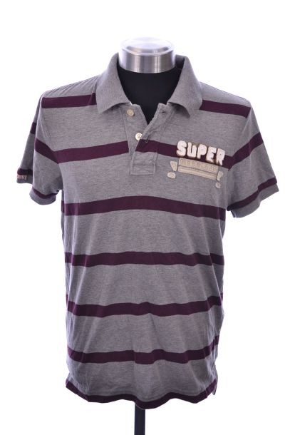 Neues-Herren-Superdry-Super-Split-Polo-T-Shirt-Groesse-M-Ref-GC7745-0100
