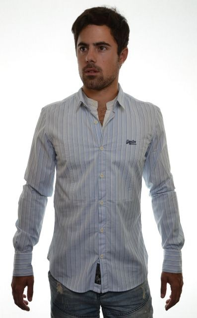 New-Mens-Superdry-Jonboy-Stripe-Shirt