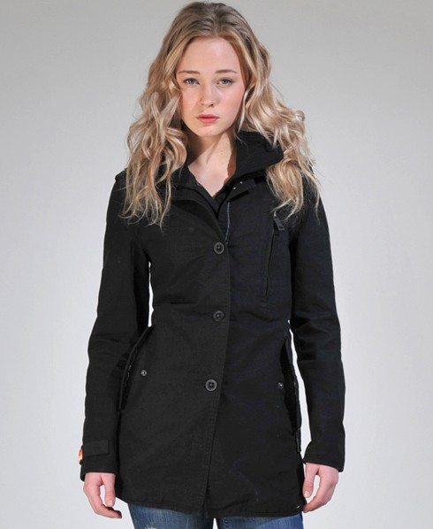 New-Womens-Superdry-Jermyn-Street-Trench-Coat-AL-MP102-1436