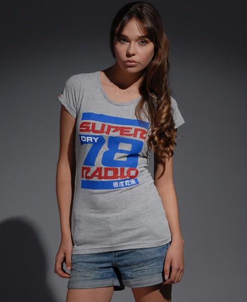 New-Womens-Superdry-CB-Radio-TShirt-BR-MP140-0535