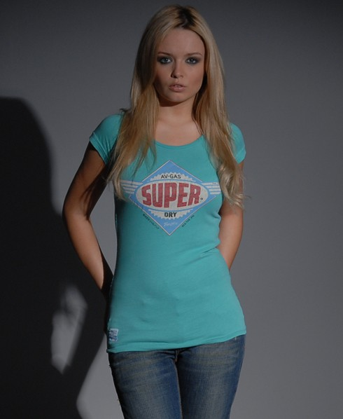 New-Womens-Superdry-Tin-Tab-AV-Gas-TShirt-ref-EB643-0535