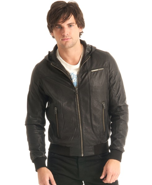 New-Mens-Superdry-Basic-Bomber-Leather-Jacket-MP63-3200