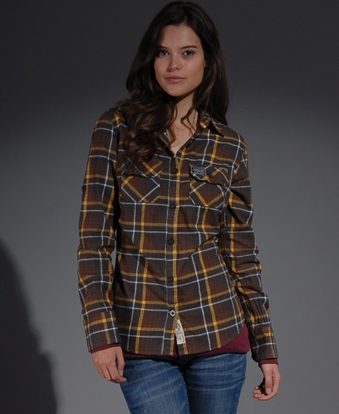 New-Womens-Superdry-Lumberjack-Twill-Shirt-SD-AL-MP638-0780