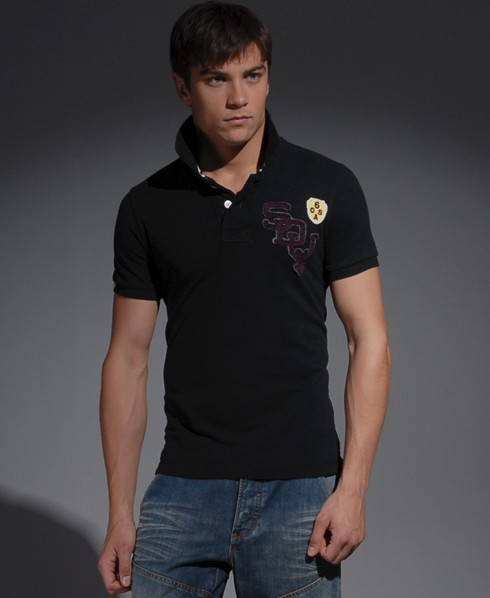 New-Mens-Superdry-Blacklabel-Pique-Polo-T-Shirt-ref-SC-EB382-0794