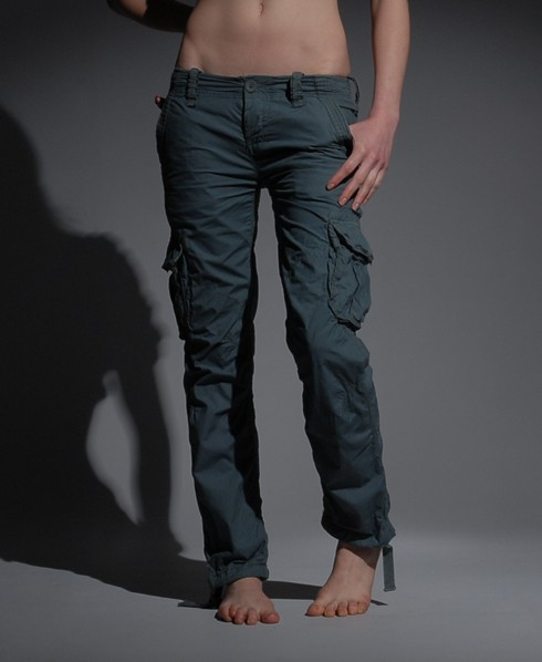 New-New-Womens-Superdry-Cargo-Lite-Pant-Trousers