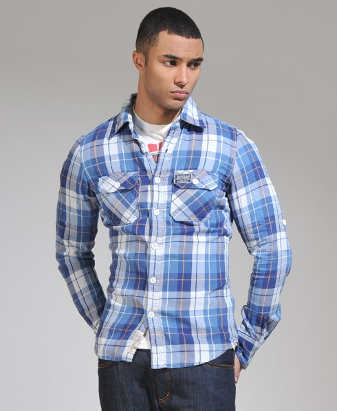 New-Mens-Superdry-Lumberjack-Twill-Shirt