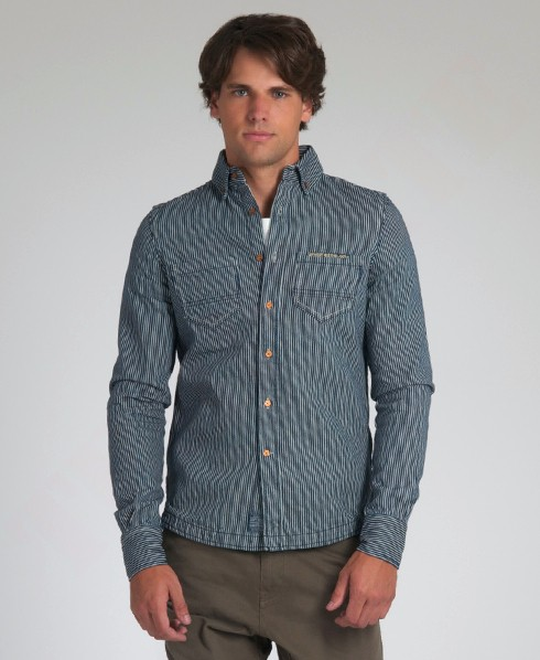New-Mens-Superdry-Standard-Blue-Jean-Shirt-SDD-AD2072-1200