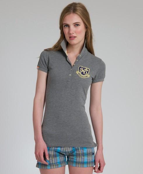 New-Womens-Superdry-Blacklabel-Pique-Polo-TShirt-AD2087-0675