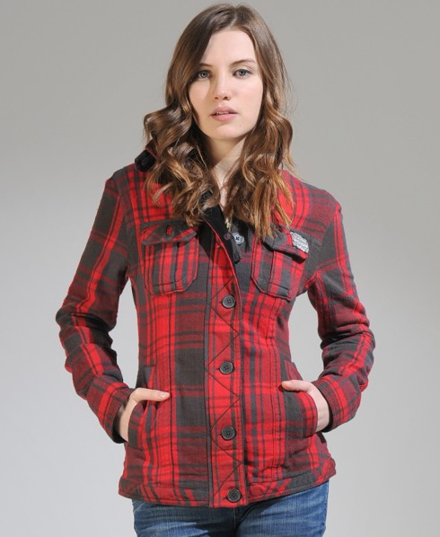 New-Womens-Superdry-Sawmill-Flannel-Shirt-Jacket-AD2153-1060