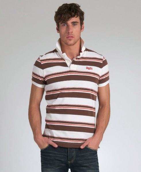 New-Mens-Superdry-Vintage-Multistripe-Polo-T-Shirt-EB34-0946