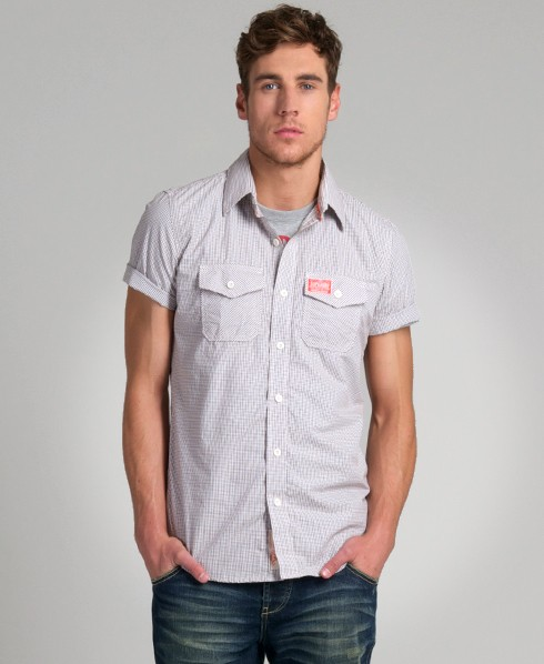New-Mens-Superdry-Washbasket-Short-Sleeve-Shirt-AO-AD2425-0965