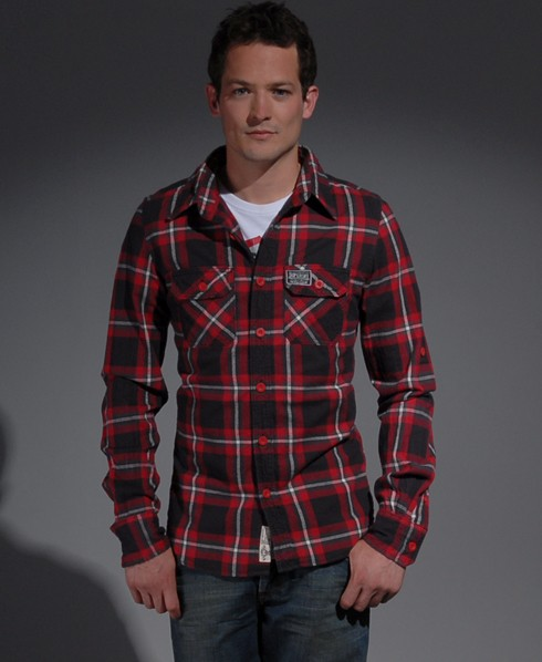 New-Mens-Superdry-Lumberjack-Twill-Brush-AD2422-0975