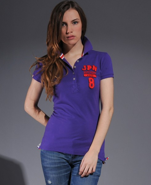 New-Womens-Superdry-Double-Blacklabel-Pique-Polo-TShirt-AD2484-0644