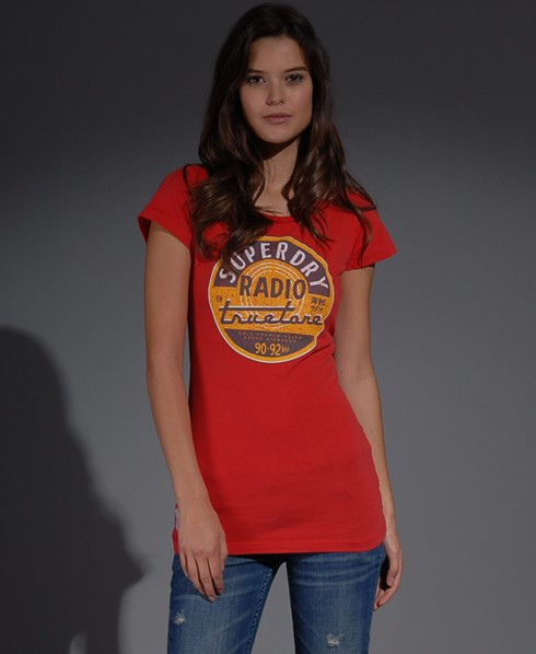 New-Womens-Superdry-Tin-Tab-Truetone-TShirt