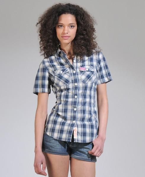 New-Womens-Superdry-Washbasket-Short-Sleeve-Shirt-AD2460-0825