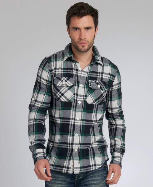 New-Mens-Superdry-Lumberjack-Brush-Shirt-CS