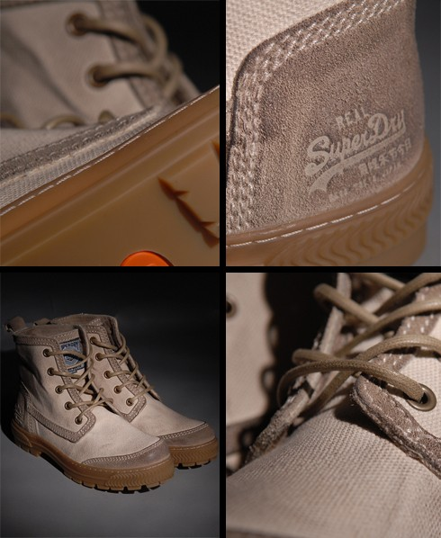 New-Mens-Superdry-Site-Suede-Canvas-Boot