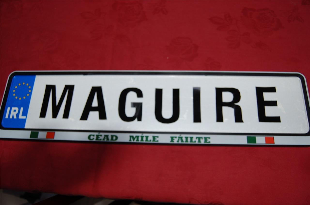 Hodge-to-Hosey-Family-name-on-real-IRISH-DRIVING-LICENSE-PLATE-Plaque
