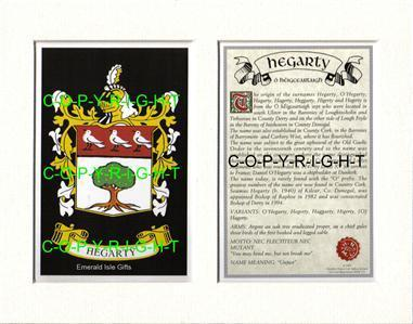 HEFFERAN-to-HESSION-Family-Coat-of-Arms-Crest-History-Mount-or-Framed