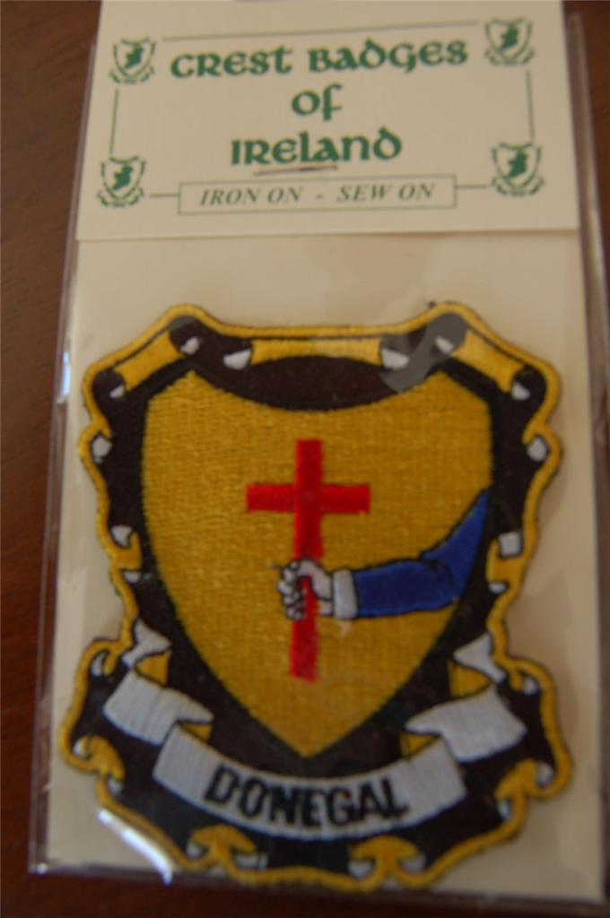 County-DONEGAL-Irish-PATCH-Coat-of-Arms-Crest-Embroidered-Badge-Ireland