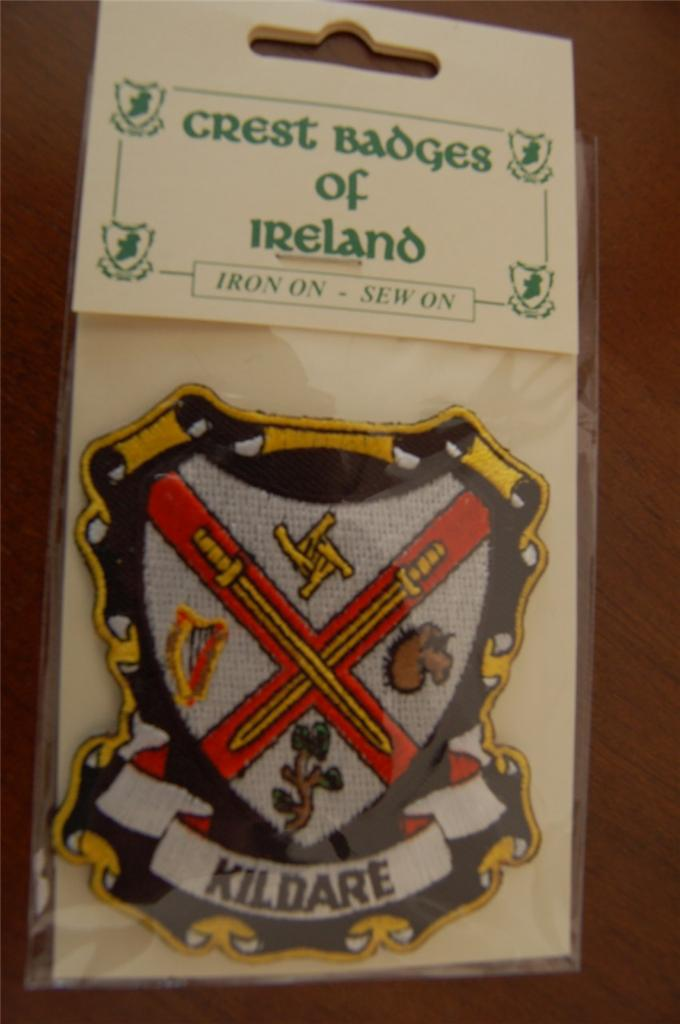 County-KILDARE-Irish-PATCH-Coat-of-Arms-Crest-Embroidered-Badge-Ireland