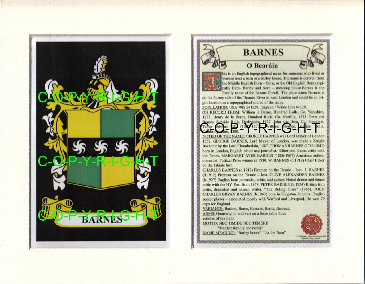 BARNES-Family-Coat-of-Arms-Crest-History-Available-Mounted-or-Framed