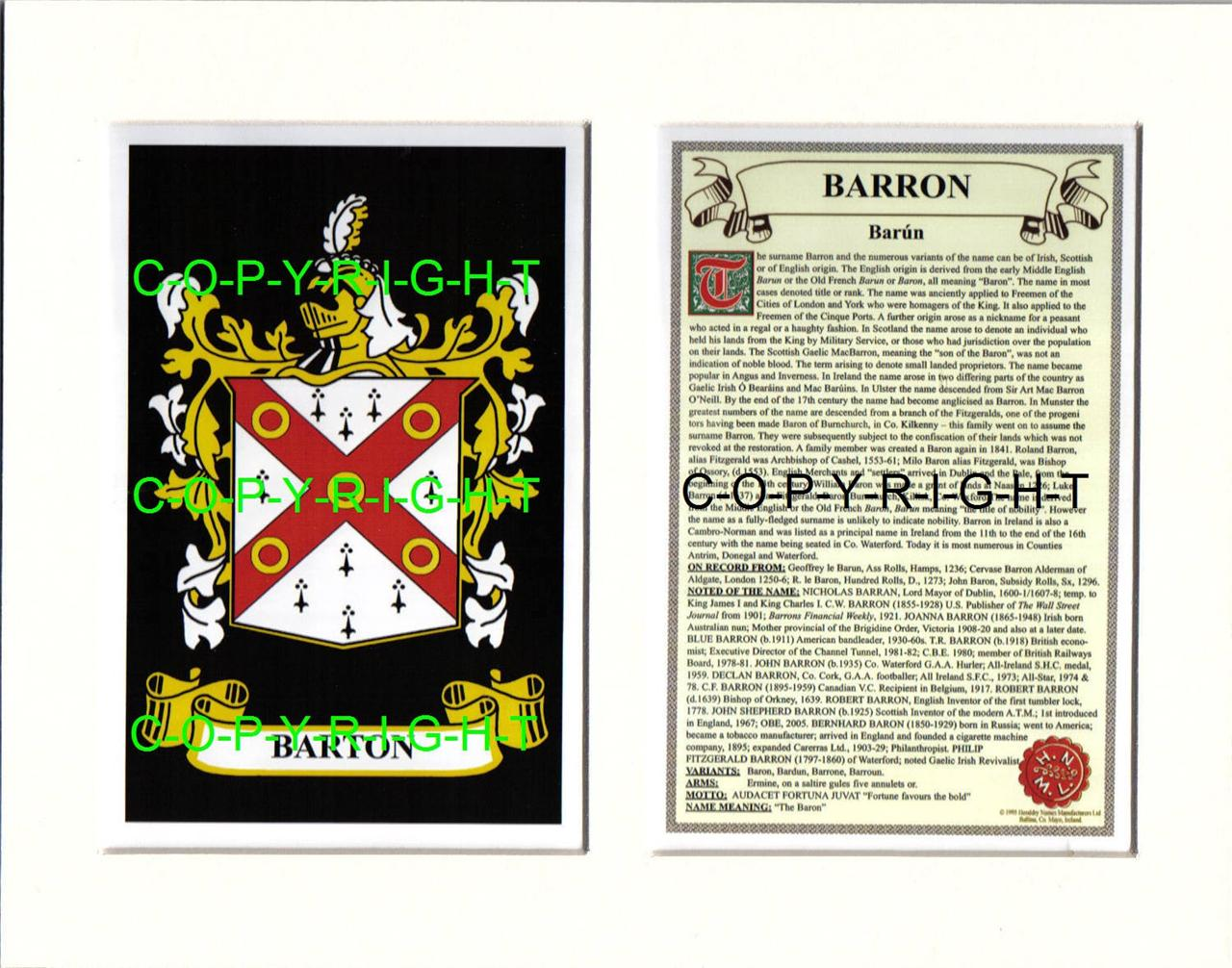 BARRON-Family-Coat-of-Arms-Crest-History-Available-Mounted-or-Framed