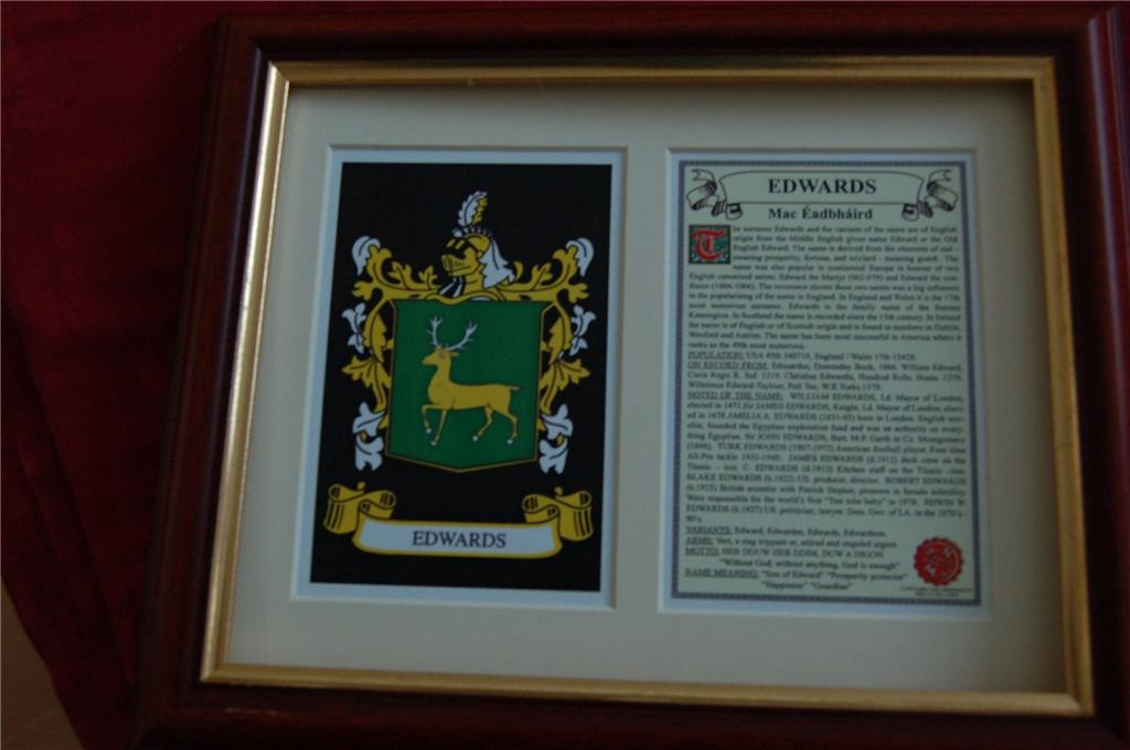 EDWARDS-Family-Coat-of-Arms-Crest-History-Available-Mounted-or-Framed