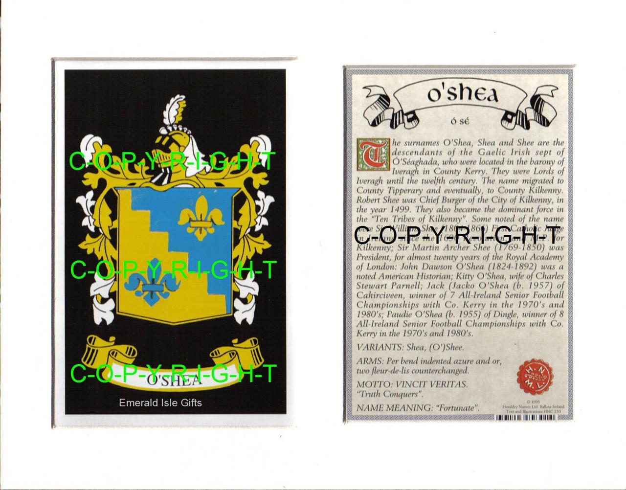OSHEA-Family-Coat-of-Arms-Crest-History-Available-Mounted-or-Framed