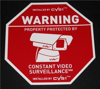 Home Security System Cctv Camera Alarm Yard Sign Sale Ebay