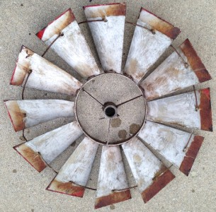 Vintage Windmill Blades Patina Red Perfect For