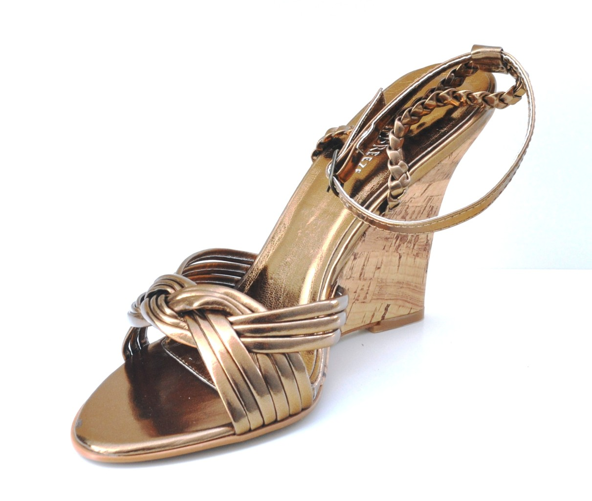 bronze slingback high heel platform womens sandals shoes