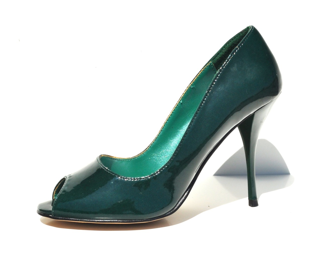 micheal antonio hunter green sexy high heel pumps open toe. Black Bedroom Furniture Sets. Home Design Ideas