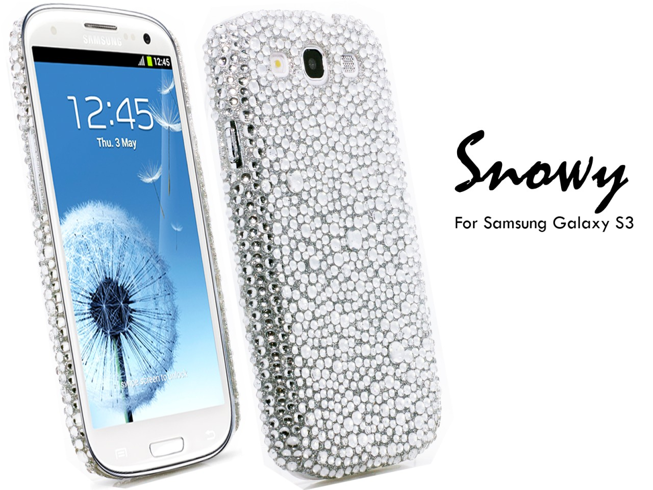 NEW SAMSUNG GALAXY S3 PHONE CASE COVER LUXURY DESIGN BLING ...