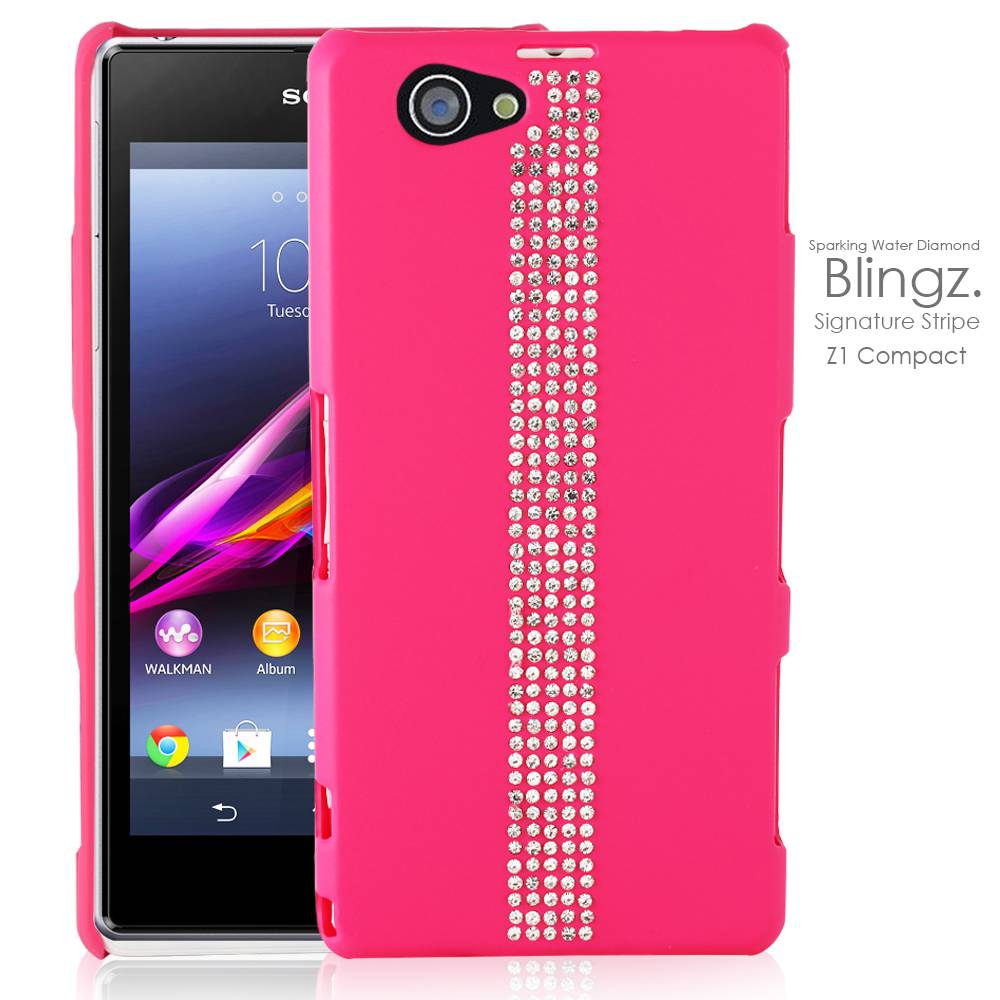 Diamond Gem Crystal Bling Bling Phone Case Cover for Sony Xperia Z1 Compact